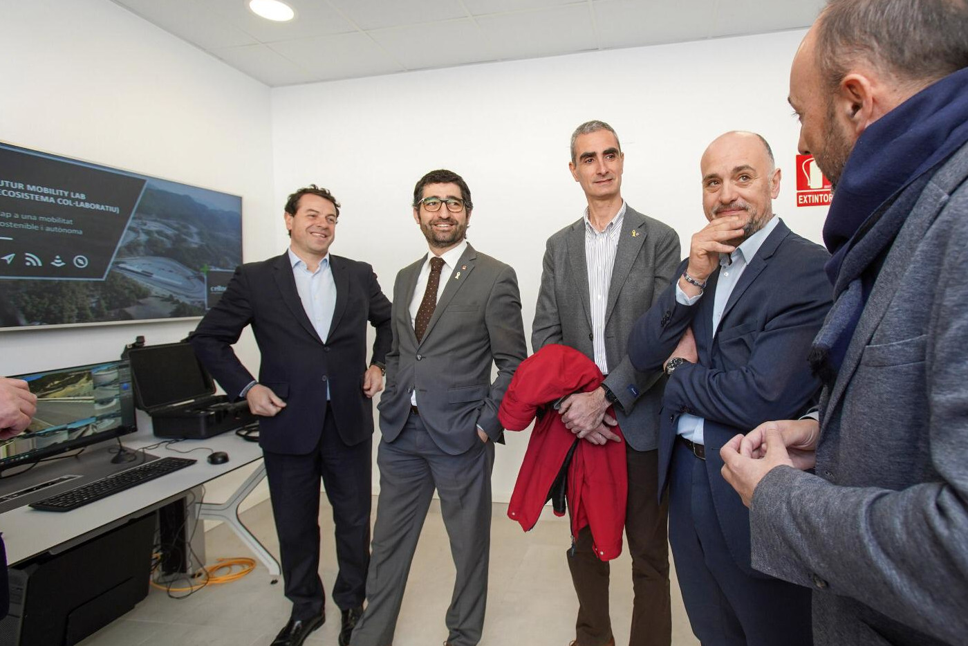 Jordi Puigneró, Councilor Of Digital Policies And Public Administration, Visits Parcmotor Of Castellolí
